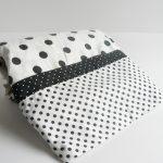 Simple Black And White Polka Dot Sheets