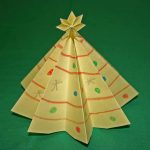 Simple Christmas Tree From Paper Of Christmas Crafts To Make At Home