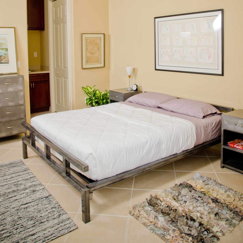 Wonderful low profile platform bed frame homesfeed for Unique platform beds