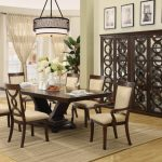 Simple Modern Centerpieces For Dining Room Tables Idea With Glass Door Hutch And Round Stylish Light