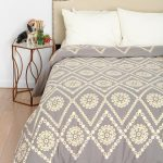 Simple Pattern Design Of Urban Outfitter Bedding With White Pillows