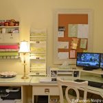 Simple Wall Organizers For Home Office With White Desk Chair And Table Lamp