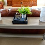 Simple White WOoden Extra Long Sofa Table With Leather Sofa And Accessories
