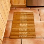 Simple bamboo rug for outer shower space