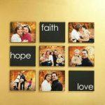 Simple canvas family photo collage idea