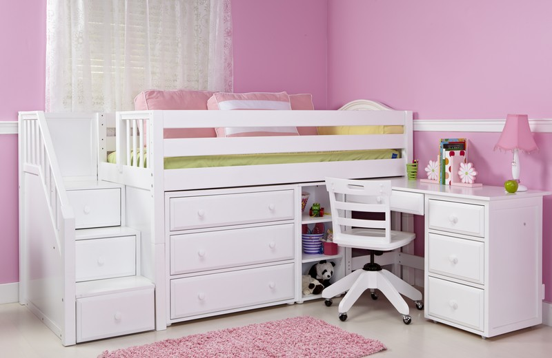 Girls loft bed with desk design ideas and benefits Bunk beds for girls