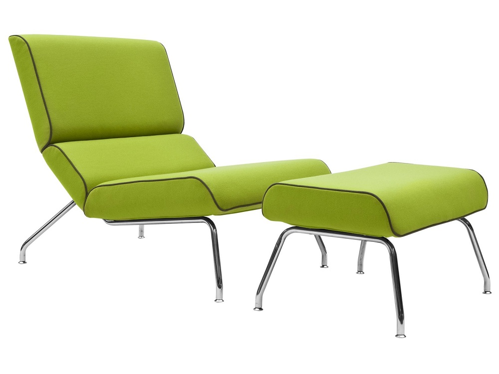 Sleeper Lime Green Accent Chair With Table