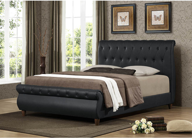 sleigh bed is one of bed styles that has scrolled or curved headboard