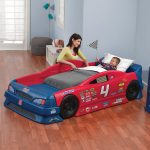 Small Blue And Red Design Of Race Car Beds For Toddlers