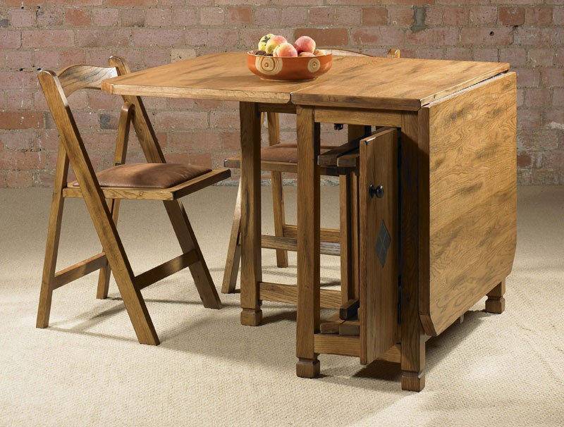 Adorable drop leaf table with chair storage homesfeed for Small kitchen table with storage