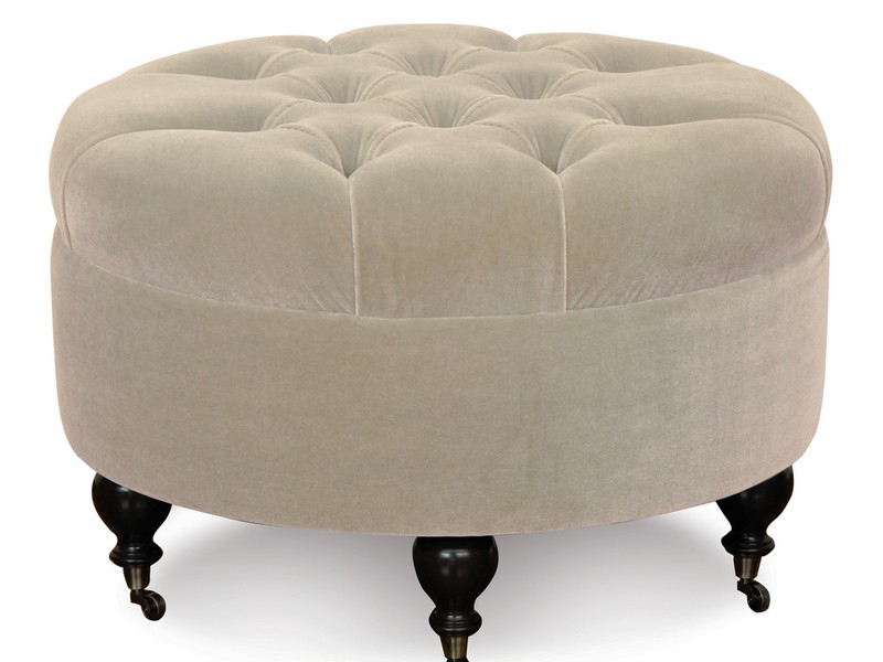 Living room with chair with ottoman - Awesome Small Round Ottoman Homesfeed