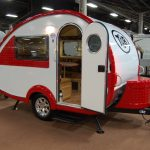 Small Small Travel Trailer Manufacturers With Red And White Design