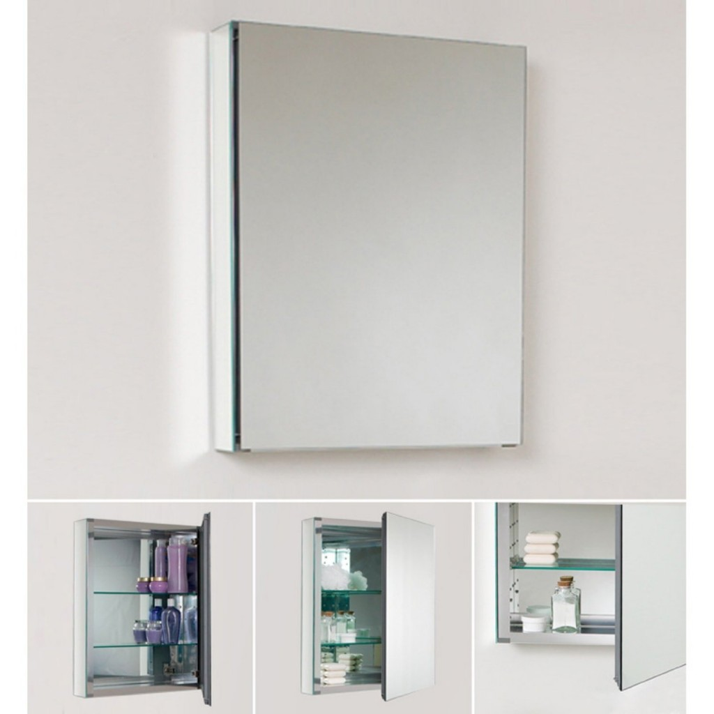 Good recessed medicine cabinet no mirror homesfeed Bathroom mirror cabinet design