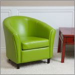 Small Wooden Table With Lime Green Accent Chair