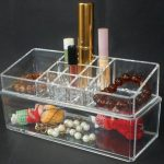 Small Makeup Storage Case And Boxes At Top Of Case