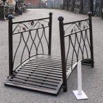 Small metal bridge for garden