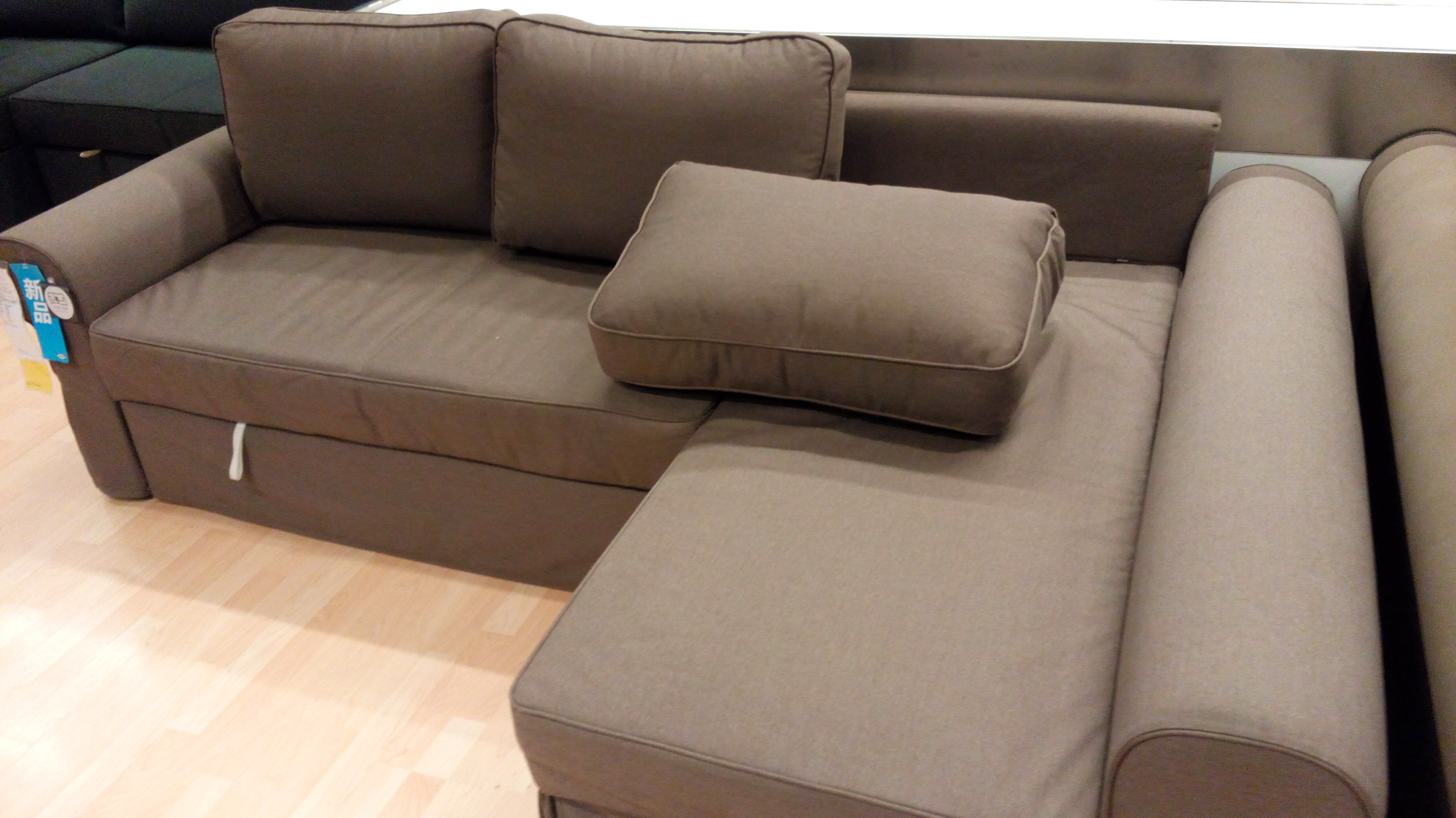 Sofa Sleepers Ikea With Brown Color And Pillows