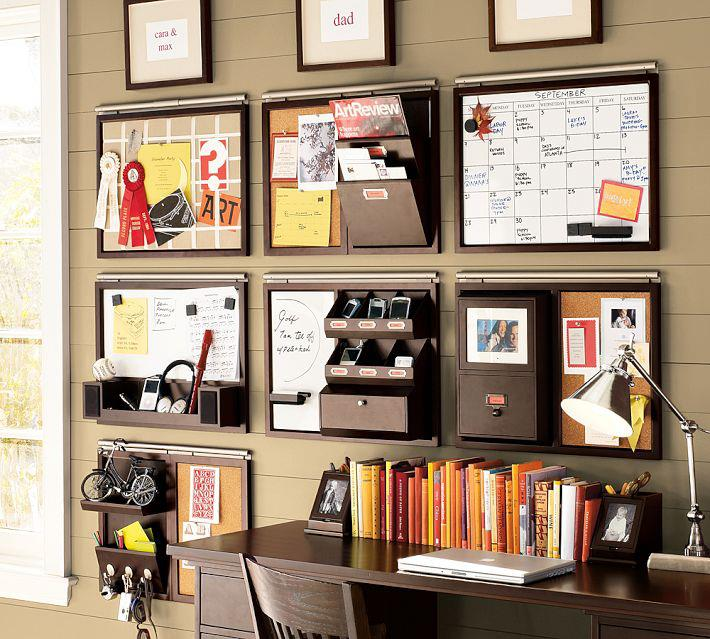 create your own wall organizer for office | homesfeed