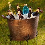 Stylish design Of Gold Beverage Bucket With Stand