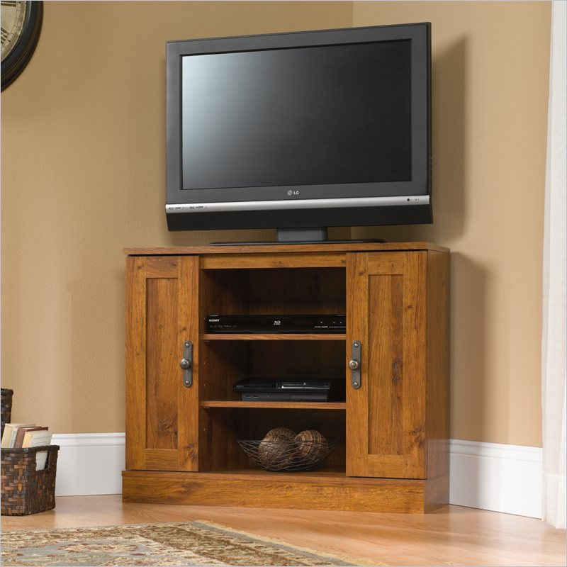 tall corner tv stand designs and images homesfeed - Tall Corner Tv Stand