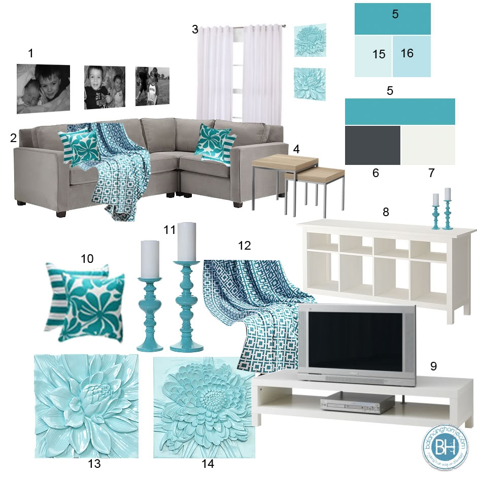 Beautiful teal living room decor homesfeed for Room decoration products