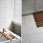 The idea of bamboo mat for shower room