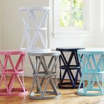 The series of round top nursery side tables in different colors