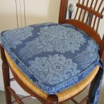 Thick blue chair pad
