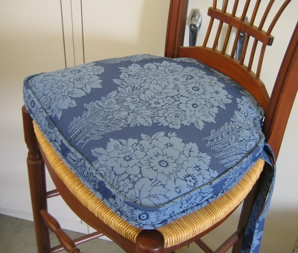 Ordinaire Thick Blue Chair Pad