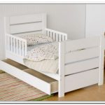 Toddler Bed With Storage In White