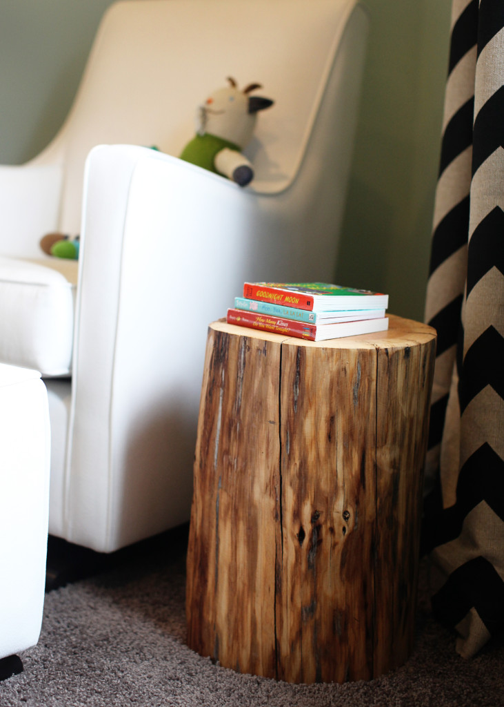 Superb Tree Trunk Side Table For Nursery Room A Purely White Nursery Chair