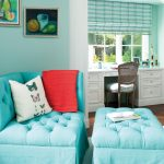 Turquoise Chairs For Bedroom Sitting Area With Ottoman White Desk And Shelves