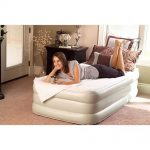 Twin Size White Inflatable Mattress