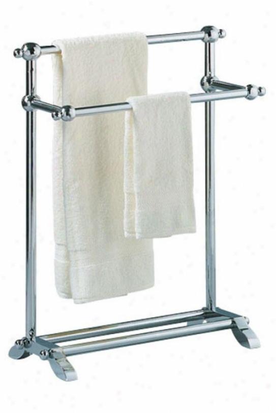 chrome standing towel rack