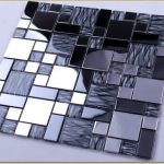 Two tone decorative mirror mosaic tile idea