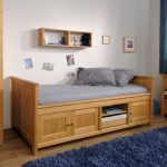 Unfinished wood bed for toddler with headboard footboard and storage blue shag bedroom rug idea wall mount wooden bookshelf idea