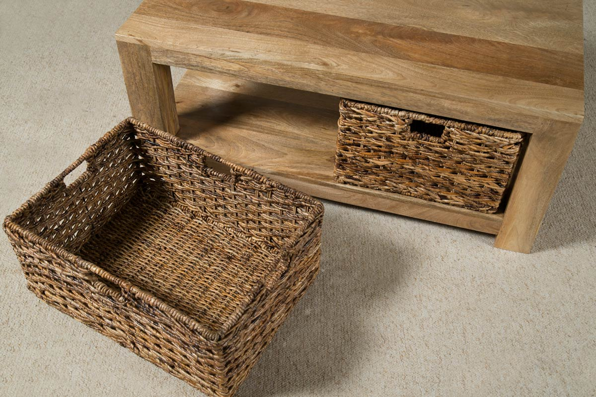 Coffee Tables With Basket Storage Inspiring Designs Of Coffee Table With Baskets Homesfeed