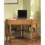 Unfinished wooden corner desk for computer