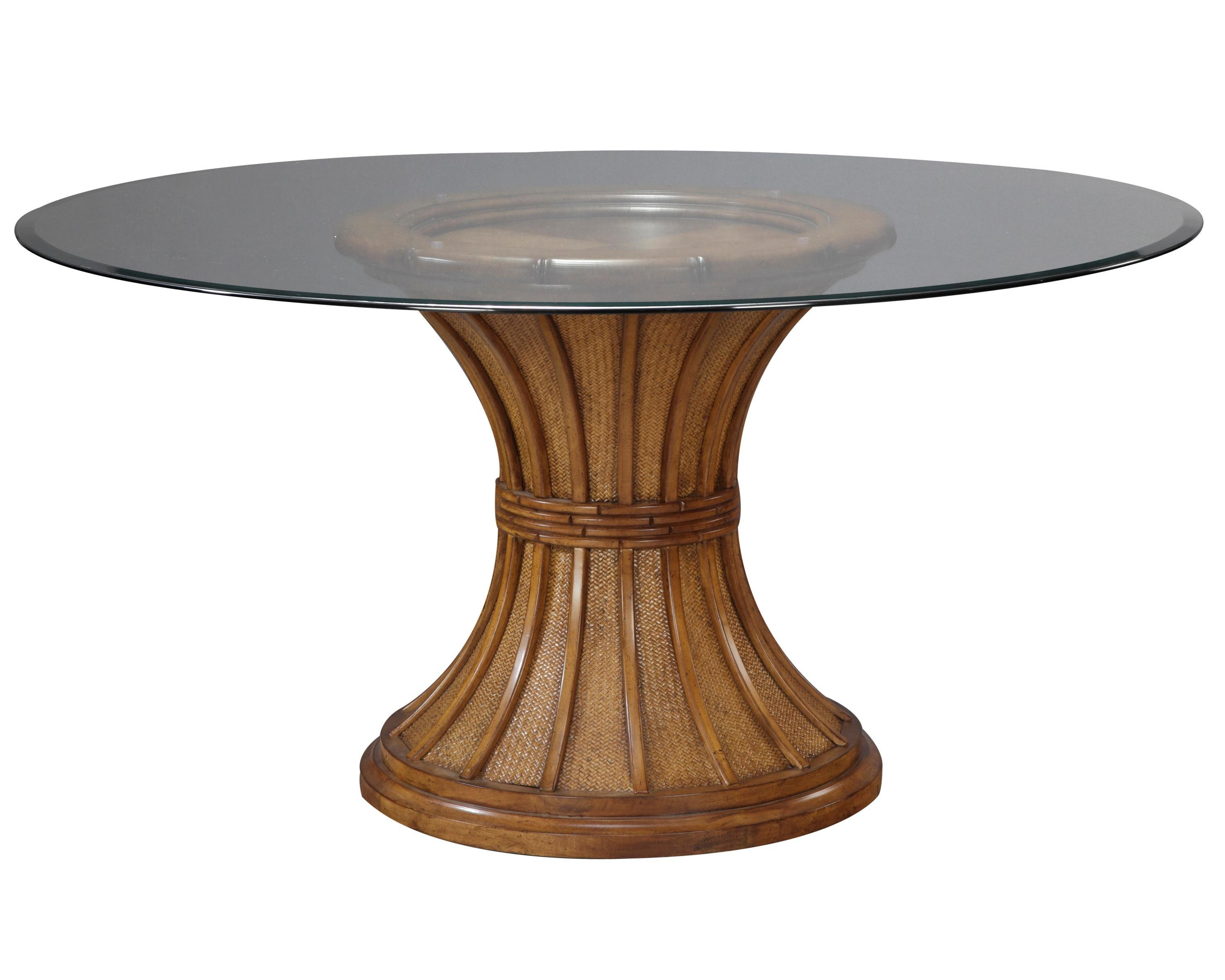 Dining room table bases for glass tops - Unique Pedestal Table Base For Glass Top With Round Shape