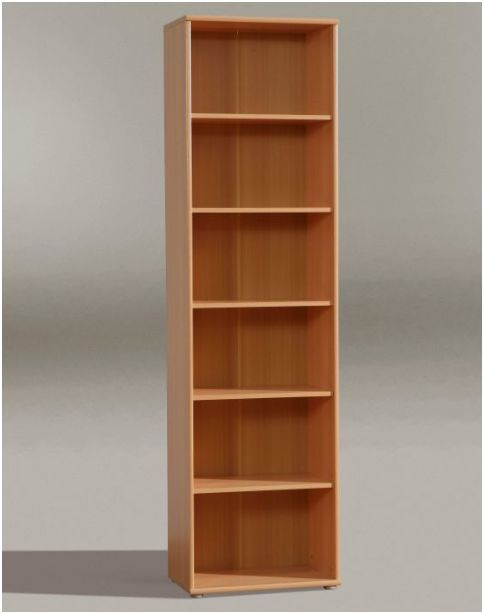 Vertical bookcase idea made of solid wood without finish - Tall Book Shelf Ideas HomesFeed