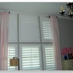 Very short curtain rods idea with soft pink window curtains window blind in white