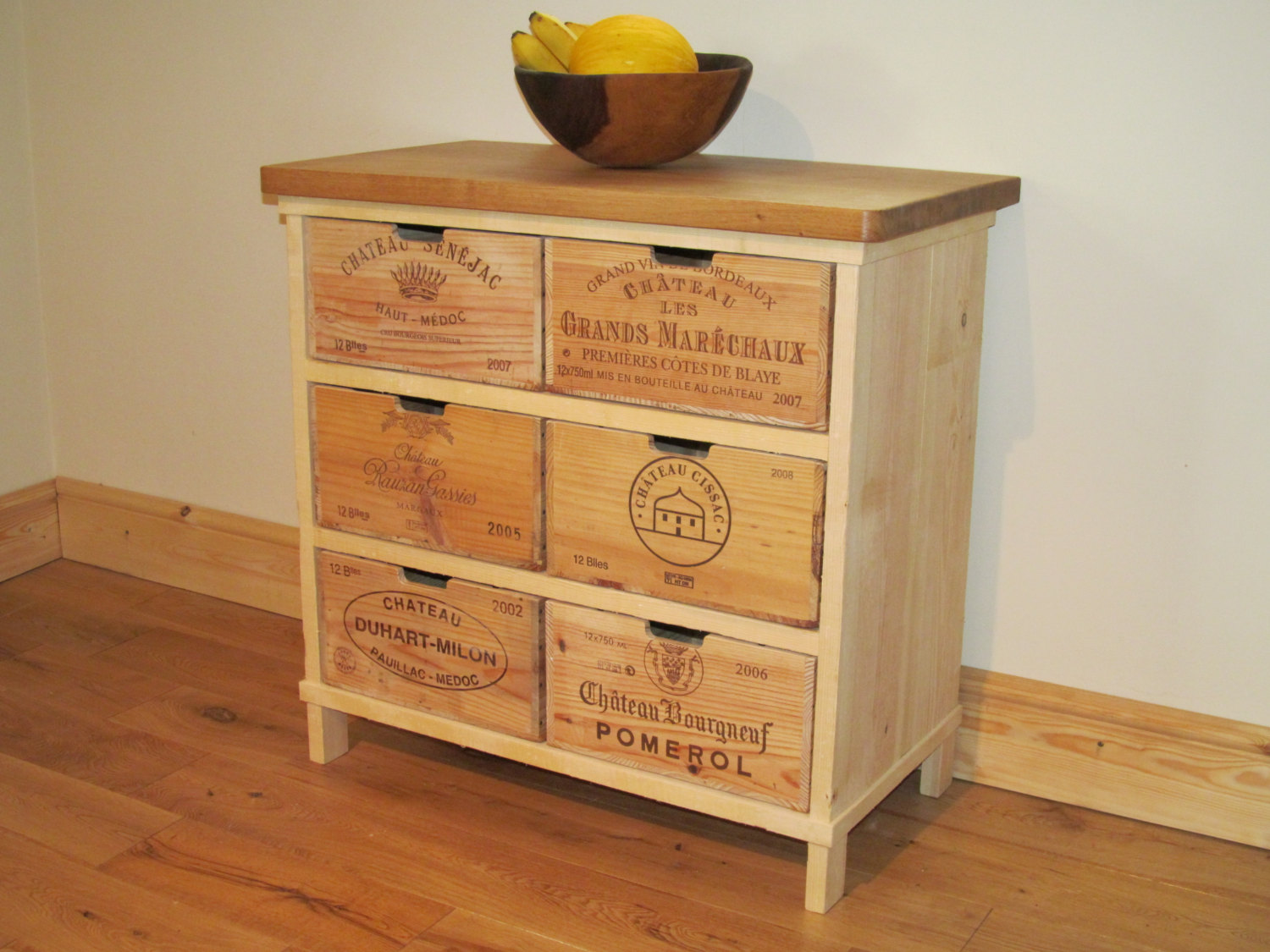 Creative works from vintage wine crates homesfeed vintage wine crate console table idea with wood top geotapseo Choice Image