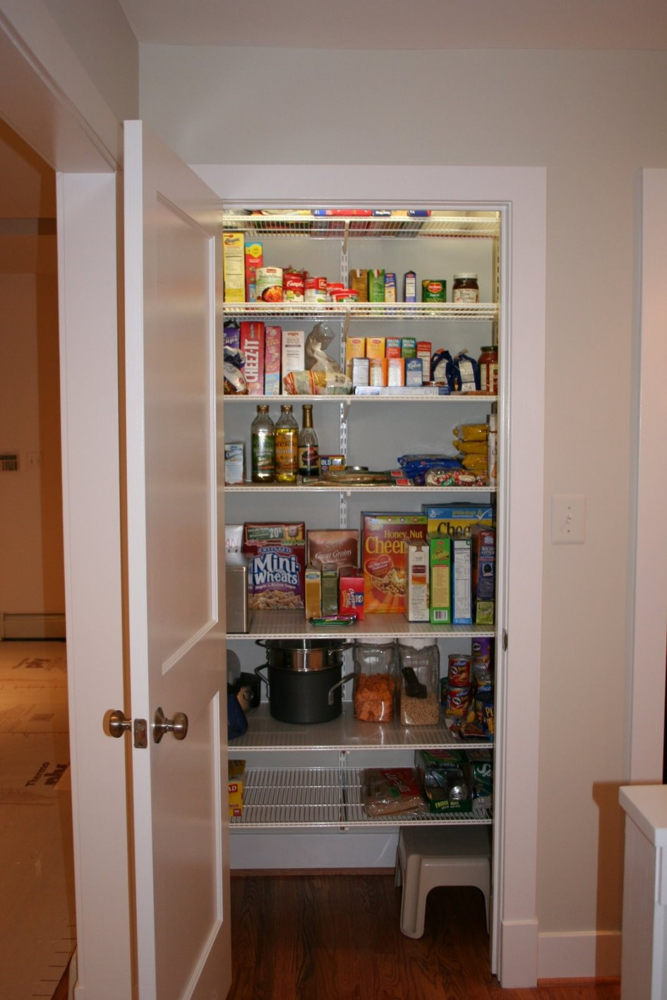 Good walk in pantry shelving systems homesfeed for Kitchen closet