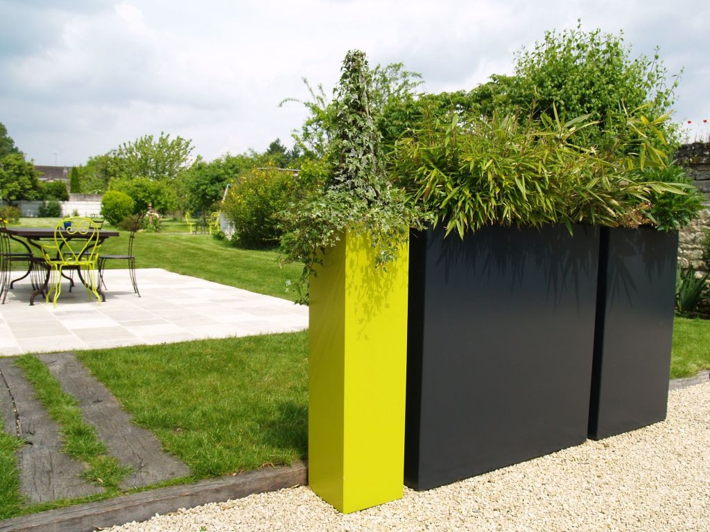 Wall Black And Yellow Large Planters For Outdoors