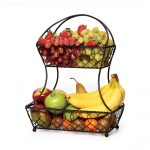 Wall Mounted Fruit Basket With Double Parts