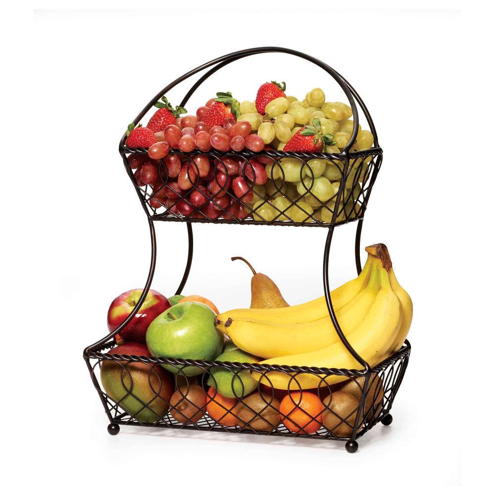 Cool Wall Mounted Fruit Basket Homesfeed