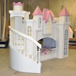 White Castle Design Of Small Bunk Beds For Toddlers