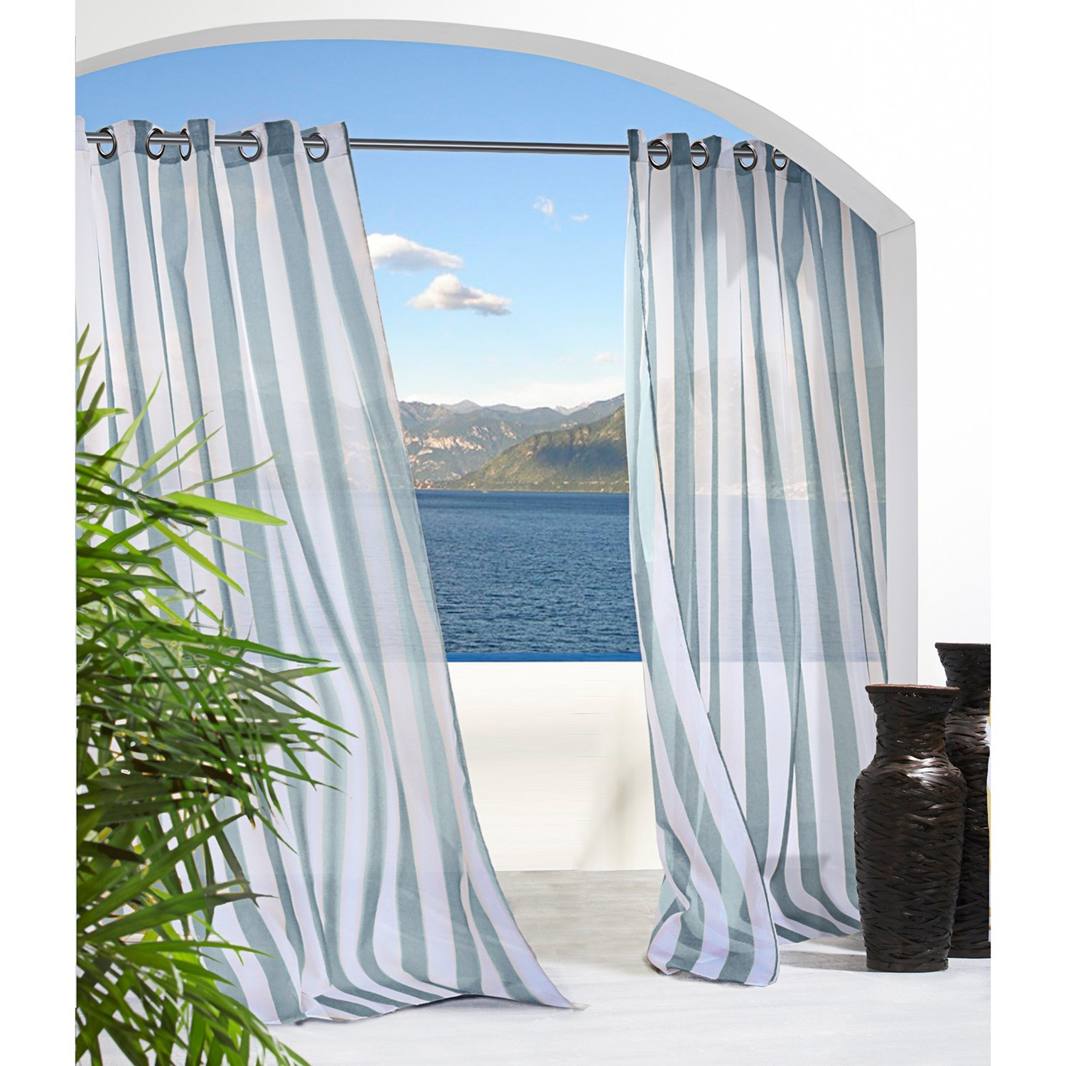 Drapes For Dining Room Pretty Indoor Outdoor Curtains Homesfeed