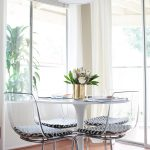 White House WIth White Ikea Tulip Table Chair Light And Large Windows