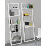 White Leaning Ladder Shelving Unit